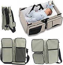 Webeauty ® 3 en 1 bebe de viaje Cuna / bolsas de pañales & portatil cuna cama para recién nacidos, bebés, niños, niñas - Baby Nursery cama para viajar (Gray)