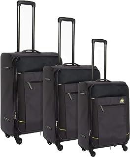 كاميلينت حقائب سفر بعجلات 3 قطع , اسود , FB908004-DGRY