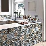 24 (Piezas) Adhesivo para Azulejos 20x20 cm - PS00140 - Varsavia - Adhesivo Decorativo para Azulejos para baño y Cocina - Stickers Azulejos - Collage de Azulejos