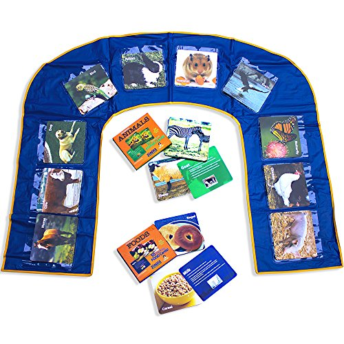 Stages Learning Materiali Lingua Builder Uplay Mat e Flashcard Set per Scuola Materna, l'autismo, ABA e logopedia Early Learning Flashcards