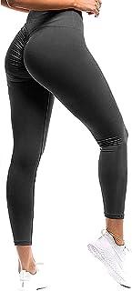 SEASUM Women Scrunch Butt Yoga Pants Leggings High Waist...