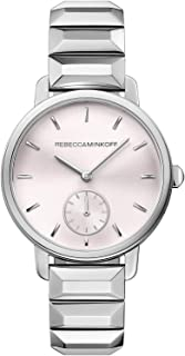 Rebecca Minkoff Women's Silver Dial Stainless Steel Band Watch - 2200032, Analog Display