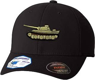 Custom Flexfit Baseball Cap WWII Army Military Tank Embroidery Unit Polyester