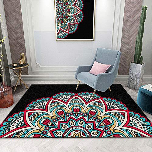 alfombra infantil grande alfombras salon grandes Alfombra negra de salón, pelo corto,...