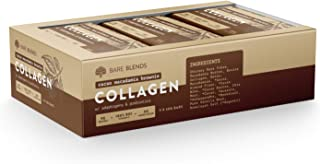Collagen Bar - Cacao Macadamia Brownie - by Bare Blends - 100% Natural Ingredients - 9G Protein, Adaptogens, Vitamin C & P...