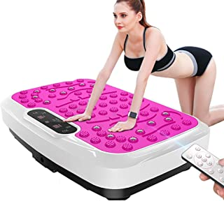 Vibration Plate Machine Fitness Body Shaper Slim Trainer Exercise Workout Home Gym Music Remote Power,3D Vibration Plate,Pink