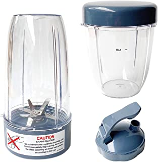 Veterger Replacement Parts Blade with cups and lids, Compatible with NutriBullet 600W and 900W Blender