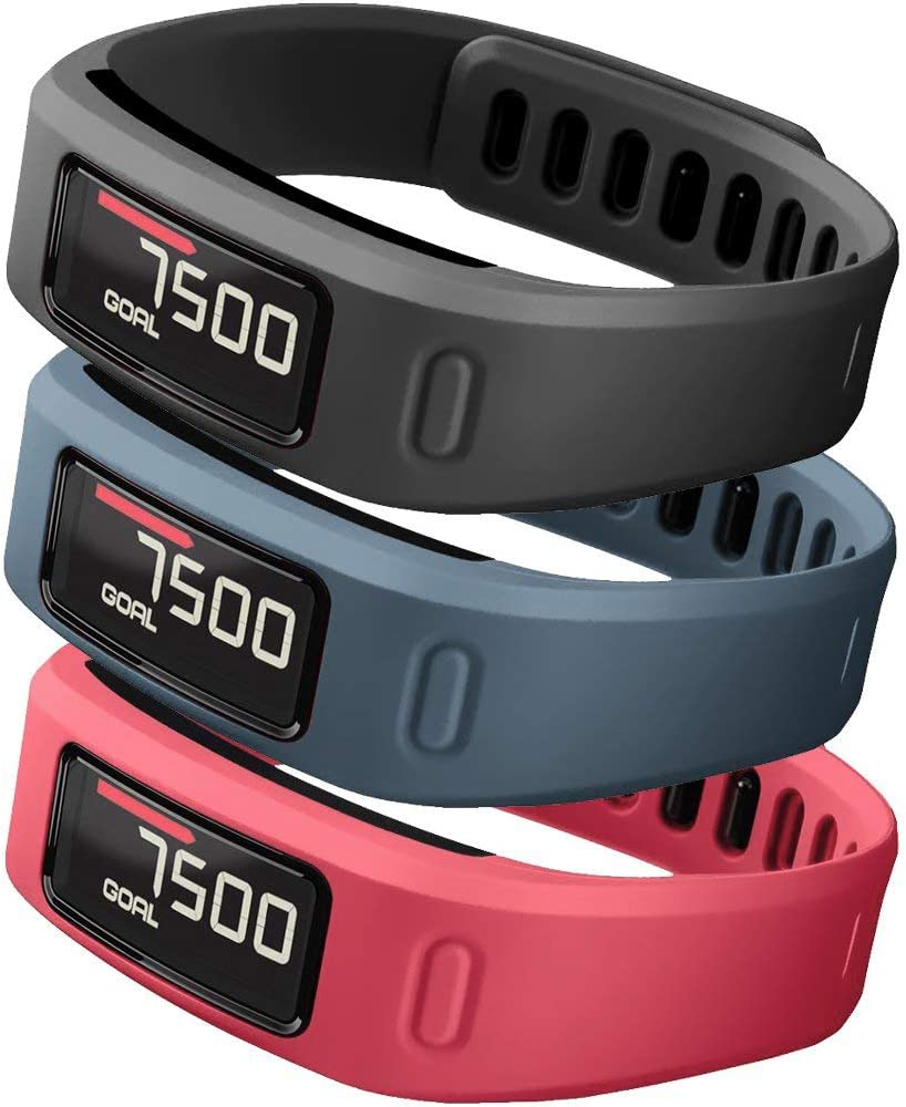 SKYLET Compatible with Garmin Vivofit Bands, Soft Silicone Colorful Fitness Replacement Bands Compatible with Garmin Vivofit 1(No Tracker)