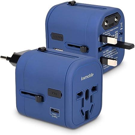 Kwmobile Reiseadapter 4 Usb Ports 3a Typ C Port Elektronik