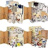 120 Hojas Pegatinas Vintage de Scrapbooking Calcomanías Decorativas de Papel de Setas Flores Plantas Pegatinas Autoadhesivas para Manualidades Planificadores Álbumes Calendarios Diarios