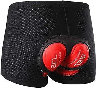 3D QA Gel acolchado para bicicleta Ciclismo ropa interior pantalones cortos para bicicleta transpirable para hombres y muj...