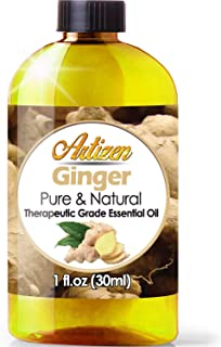 Artizen Ginger Essential Oil (100% Pure & Natural - UNDILUTED) Therapeutic Grade - Huge 1oz Bottle - Perfect for Aromather...