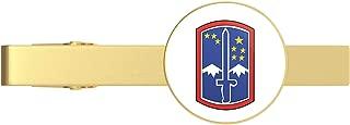 HOF Trading Gold US Army 172nd Brigade Gold Tie Clip Tie Bar Veteran Gift