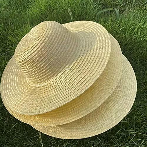 ATARSM Sombrero de Paja Sombrero de Paja Tejido Grande Parasol de Verano y Protector Solar Sombrero al Aire Libre Hombre Gran Pescador