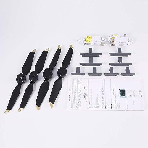 Kongqiabona 8331 2 Pairs Low-Noise Blades Propeller Schnellspanner LED Flash Wort Programmierbare Requisiten für DJI Mavic Pro Platinum RC Drone