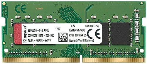 Kingston KVR24S17S8/8 8GB 2400MHz DDR4 Non-ECC CL17 SODIMM 1Rx8