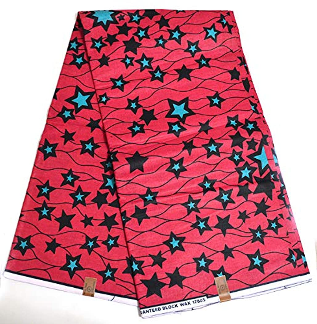 Africa Ankara Supreme 6 Yards Fabric Lots of Stars Edition