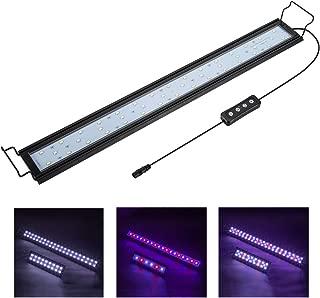 Hygger Full Spectrum Aquarium Light with Aluminum Alloy Shell Extendable Brackets, White..