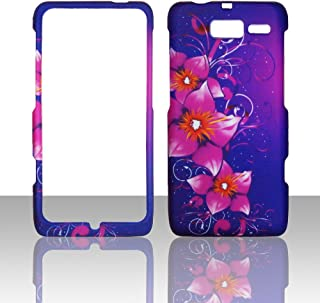 2D Mystical Flower Motorola Droid Razr M XT907 Verizon Cases Cover Hard Case Snap-on Rubberized Touch Case Cover Faceplates