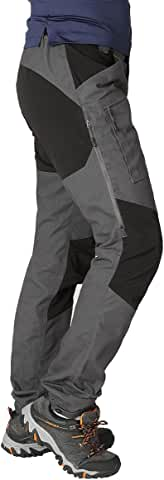 Zoomhill Men's Pro Hiking Stretch Water-Resistant Cargo Trouser