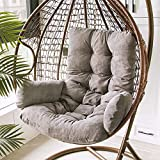 Hanging Basket Seat Cushion Hanging Egg Chair Cushions Hammock Chair Cushions Thick Nest Back Pillow for Outdoor Patio Garden Swing Chair Cushion Seat Pads, 19.68x49.21in