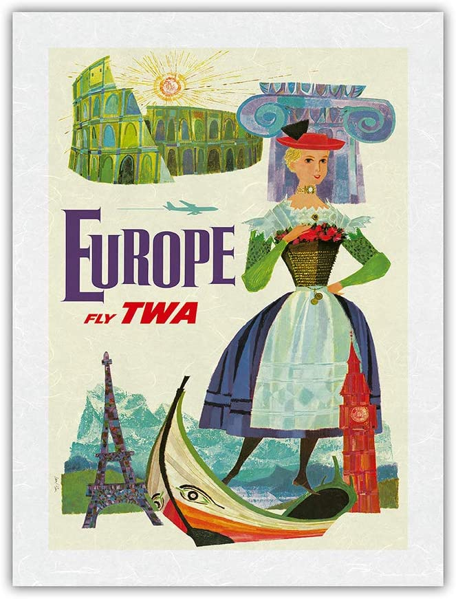 Europe - Fly TWA Trans Don't miss the campaign Ranking TOP11 Airline Airlines Vintage World Travel