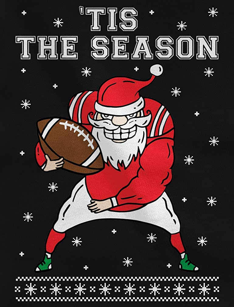 Santa Claus /'Tis The Season Ugly Christmas For Football Youth Kids Sweatshirt