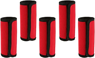 Baosity 5 Pcs Travel Luggage Handle Cover Comfort Wraps Identifier Tags - Red