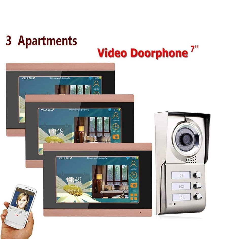 JINPENGRAN 7-inch Smart Video doorbell Remote intercom Access Control System HD Infrared Camera