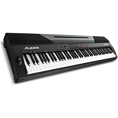 Alesis Coda Pro - Piano digital con 88 teclas contrapesadas de acción martillo con altavoces integrados, 20 voces y efectos