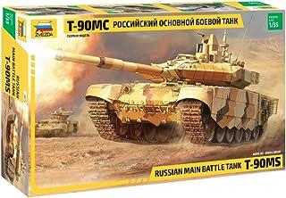 Zvezda 3675 -1:35 Russian Main Battle Tank, Model Building, Building Kit, Stand Model Building, Hobby, Crafts, Plastic Kit...