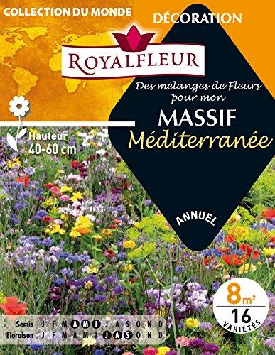 Royalfleur PFRE08805 Graines de Mélange de Fleurs mon Massif Méditerranée 8 m²