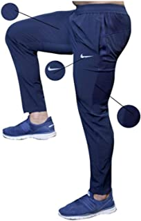 Unisex Dri Fit Single Piece Poly Lycra Trackpant (Blue, Large)