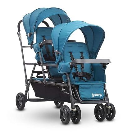 Joovy Big Caboose Graphite Triple Stroller - Best Double to Triple Stroller Conversion