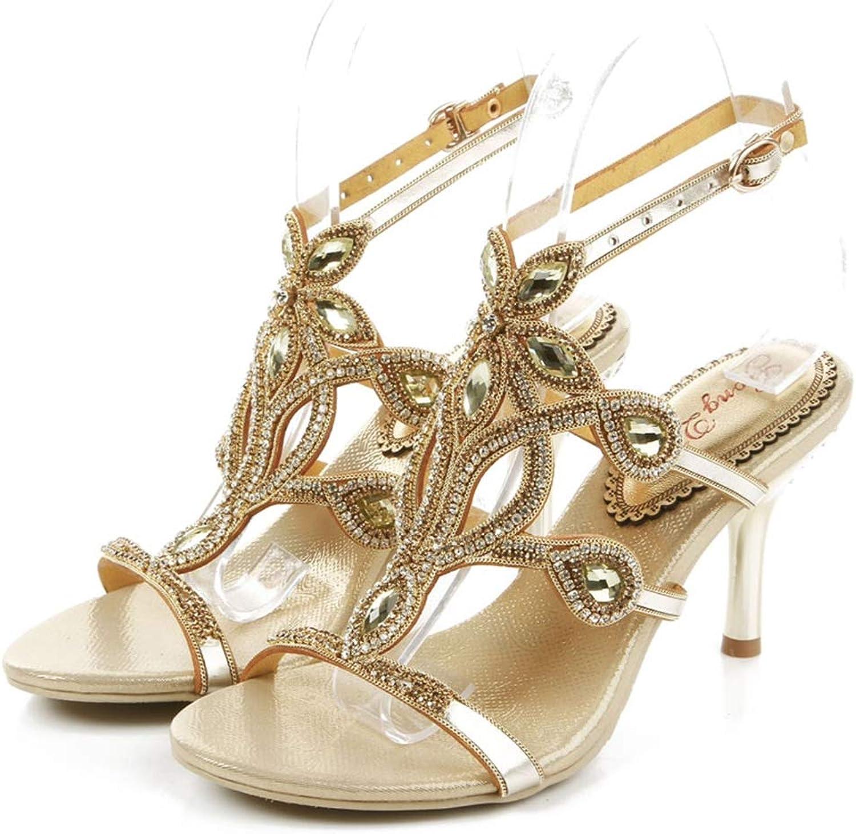 Sparrow Luxury Rhinestone High Heels New Sandals Bohemia Dress Sandal Lady Performance Dancing shoes Wedding Party Pumps