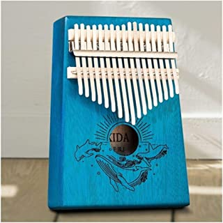Pulgar Piano Kalimba 17 Tecla de Piano maravillosamente los Instrumentos Musicales de Caoba Pulgar Piano Populares Principiante Dar 1 Juego de Accesorios (Color : 006, Size : 18.0 * 13.0 * 3.5 cm)