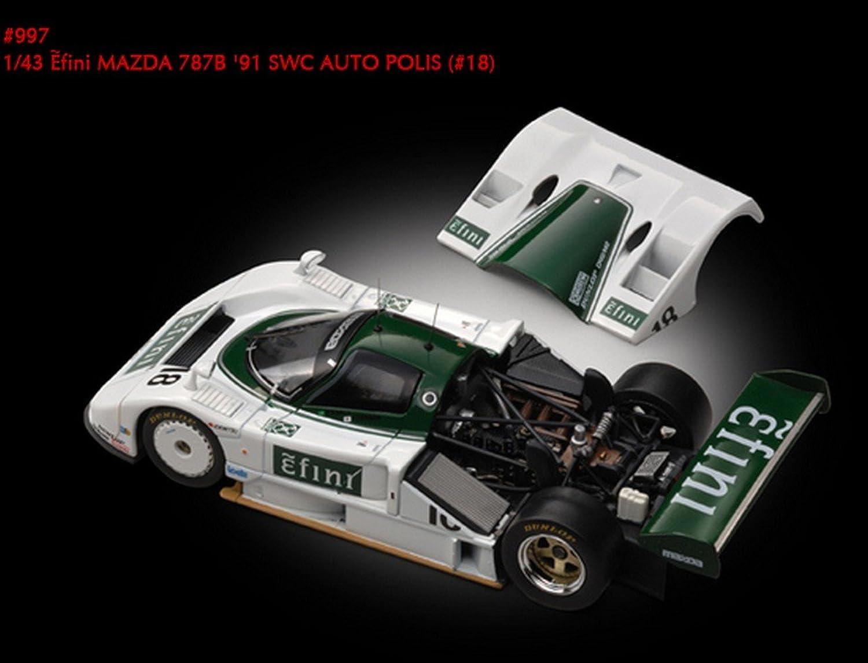 Envío 100% gratuito HPI RACING RACING RACING HPI0997 MAZDA 787 B N.18 AUTOPOLIS91 1 43 MODELLINO DIE CAST MODEL  tiempo libre