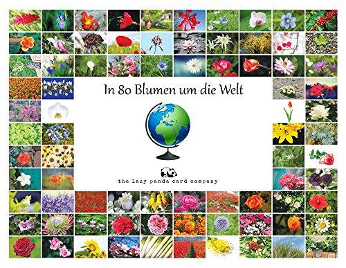 Postkarten Blumen : In 80 Blumen um die Welt - Grußkarten Blumen Nationen/Blumenpostkarten eine für jedes Land / 80 verschiedene Postkarten mit offiziellen Landesblumen
