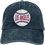 Gorra de béisbol vintage unisex de Los Angeles para hombre y mujer, talla única ajustable