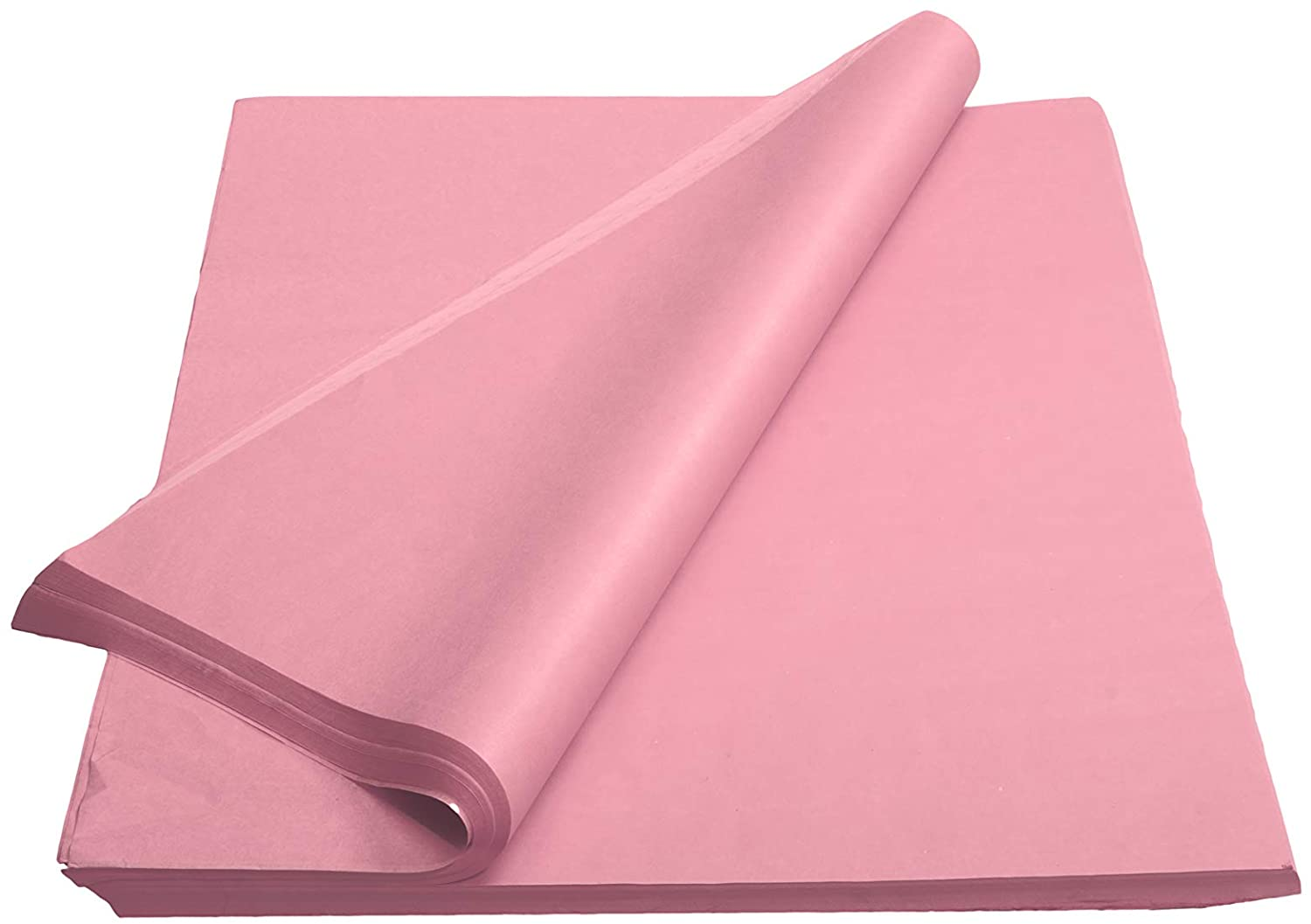 Crown 480 Sheets Bulk Pack Pink Tissue Paper Gift Wrap - Ream of