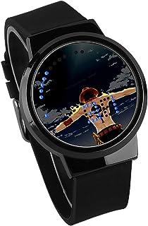 Montres Homme,Écran Tactile LED Animation One Piece Entourant Un Cadeau d'anniversaire Tendance De Montre Électronique Lum...