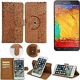 K-S-Trade Schutz Hülle Für Samsung Galaxy Note 3 Neo 3G Handyhülle Kork Handy Tasche Korkhülle Handytasche Wallet Hülle Walletcase Schutzhülle Flip Cover Smartphone
