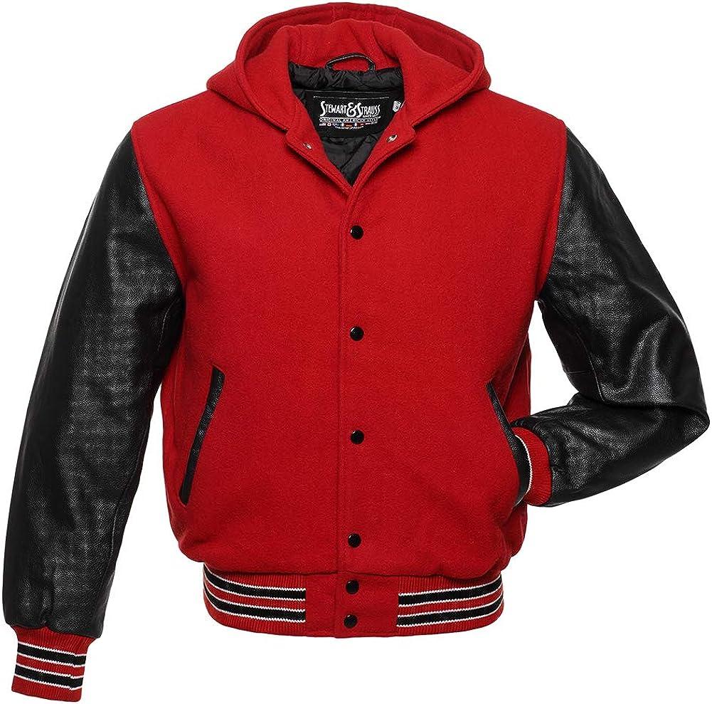 Stewart 購入 Strauss Original スピード対応 全国送料無料 Hoodie Varsity Letterman Jackes T 10
