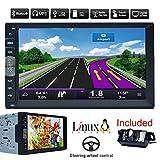 Bluetooth GPS di navigazione auto MP5 Player 2 din 7 pollici autoradio stereo Touch Screen Receiver veicolo PC multimediale Sistema No-DVD con HD macchina fotografica d'inversione