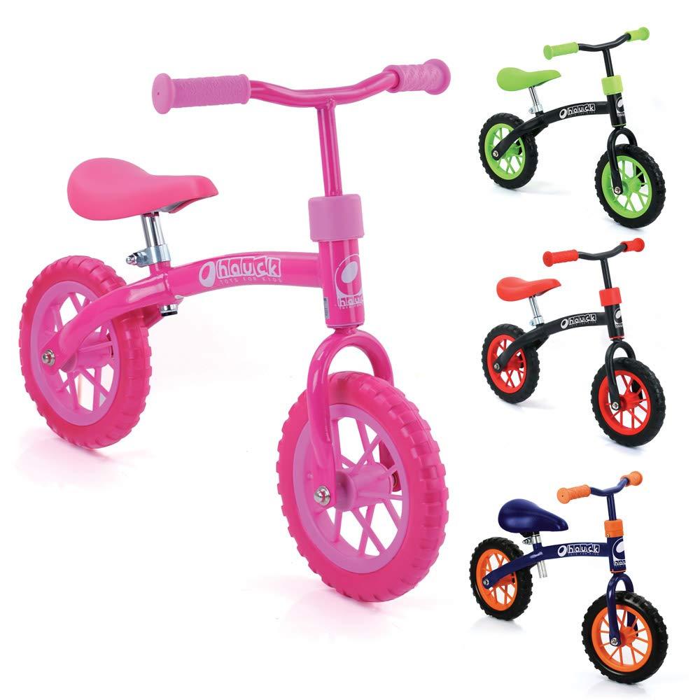 Bicicletas sin pedales para niños E-Z Rider de Hauck Toys - rueda de 10 pulgadas, para niños a partir de 2 años, manillar y sillín ajustables en altura, rosa.: Amazon ...
