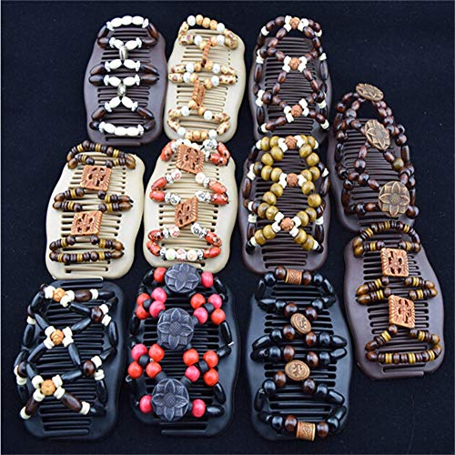 LOVEF Thick Hair clip combs hair accessories for girls bun hair - Bun Maker- Best hair accessories for Women -Easy Updo- Doesn't slide out of your hair - Holds long, short -Waterproof 5 Pcs