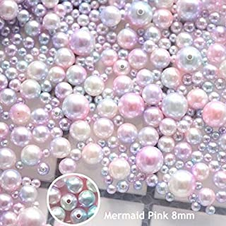 DadaCrafts(TM) 280PCS 8mm Pink Mermaid Faux ABS Pearl Beads for Jewelry Making