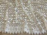 Zierrand Couture Brautschmuck schwere Guipure-Spitze Stoff