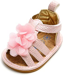 Baby Girls' Summer Flower Shoes Infant Sandals First Walkers