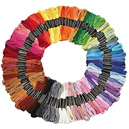Embroidery Floss Cross Stitch Threads Friendship Bracelet String Organizer Rainbow Color Embroidery Floss Multicolor Skeins Per Pack With Cotton Diy Handmade Craft Premium Sewing Floss Needlework 50